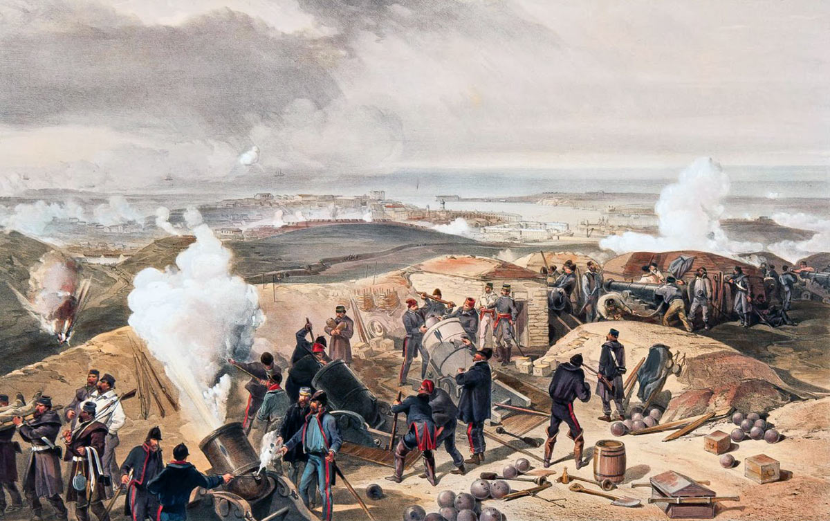A Hot Day in the British Batteries: Siege of Sevastopol September 1854 to September 1855: picture by William Simpson