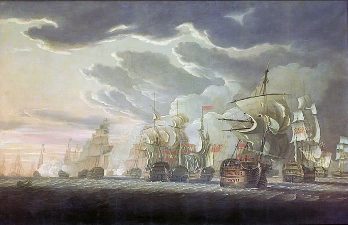 'The Moonlight Battle' at Cape St Vincent on 16th January 1780 in the American Revolutionary War