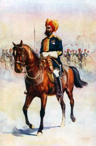 Rissaldar Major 14th Bengal Cavalry, Murray's Jats: Battle of Charasiab on 9th October 1879 in the Second Afghan War: picture by A.C. Lovett