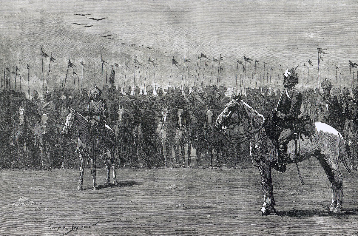 13th Bengal Cavalry at the Battle of Tel-el-Kebir on 13th September 1882 in the Egyptian War