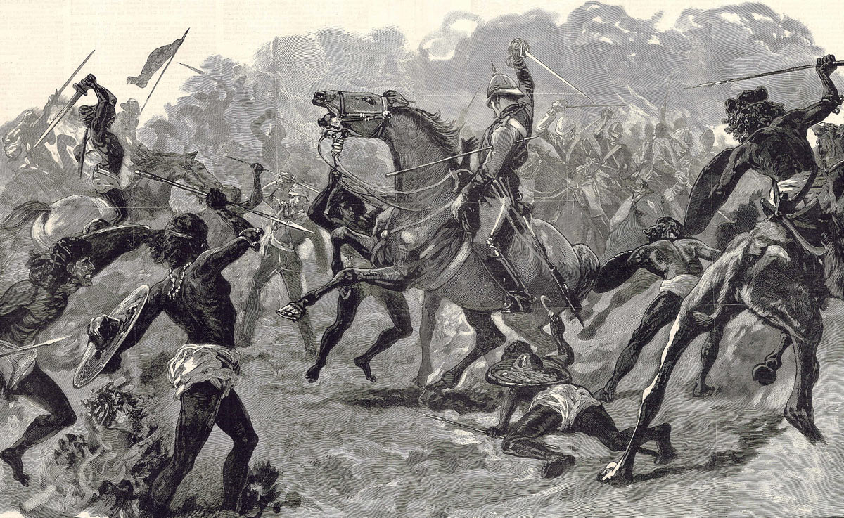 Lieutenant Colonel Barrow of the 19th Hussars wounded at the Battle of El Teb on 29th February 1884 in the Sudanese War