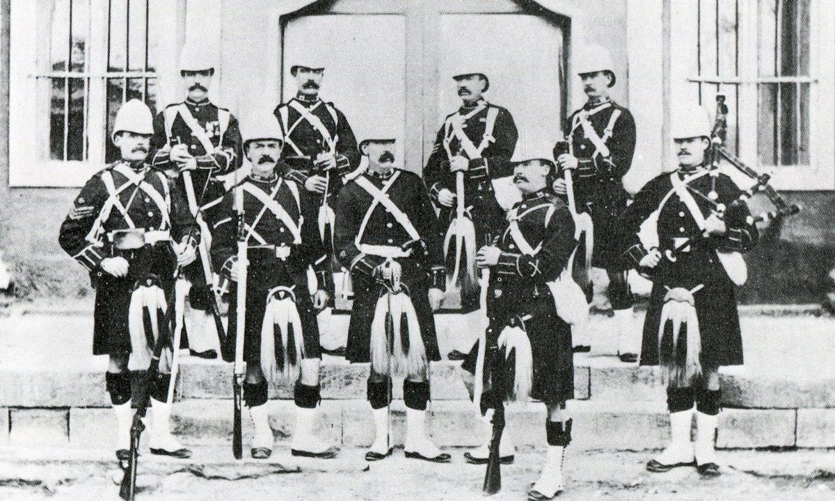 1st Gordon Highlanders: Battle of Tel-el-Kebir on 13th September 1882 in the Egyptian War