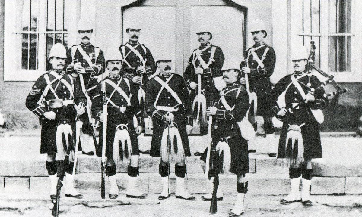 1st Gordon Highlanders: Battle of Tel-el-Kebir on 13th September 1882 in the Egyptian War