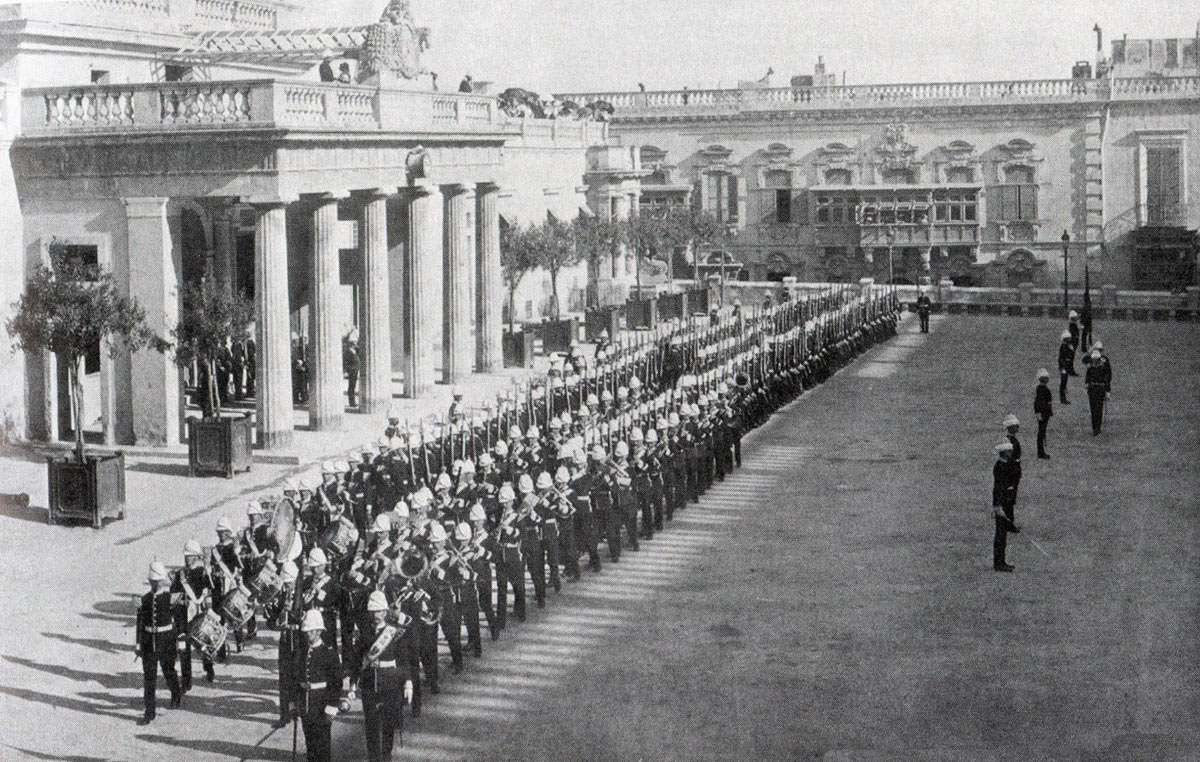 1st Lincolnshire Regiment in Malta before leaving for the Sudan: Battle of Atbara on 8th April 1898 in the Sudanese War