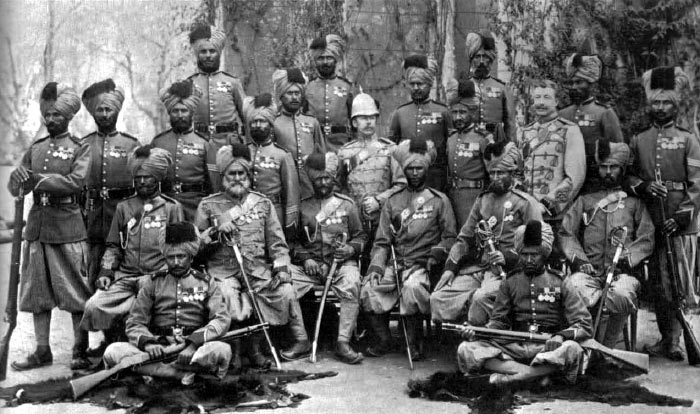 Soldiers from 20th Bengal (Punjabi) Infantry: Battle of Tel-el-Kebir on 13th September 1882 in the Egyptian War