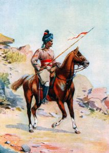 Central India Horse: Battle of Kandahar on 1st September 1880 in the Second Afghan War: picture by A.C. Lovett