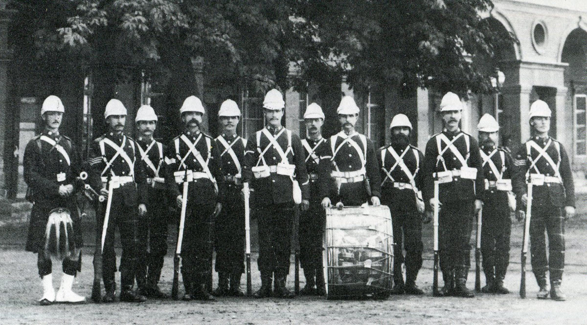2nd Highland Light Infantry: Battle of Tel-el-Kebir on 13th September 1882 in the Egyptian War