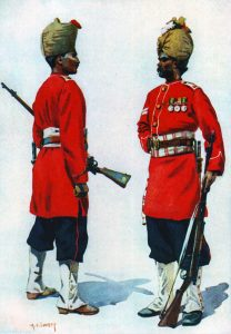 Bombay Grenadiers: Battle of Maiwand on 26th July 1880 in the Second Afghan War: picture by A.C. Lovett