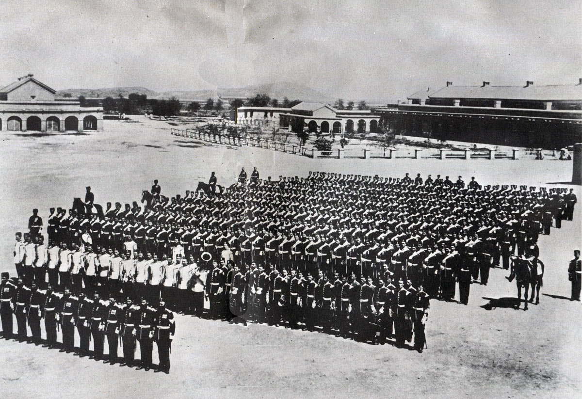 90th Light Infantry in India before leaving for South Africa: Battle of Khambula on 29th March 1879 in the Zulu War