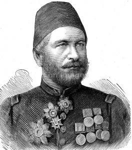 Ahmed Arabi Bey, Egyptian commander at the Battle of Tel-el-Kebir on 13th September 1882 in the Egyptian War
