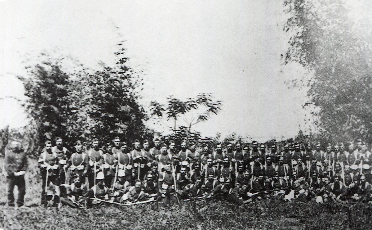 B Company, 2nd Battalion, 24th Regiment, the garrison of Rorke's Drift Mission at the Battle of Rorke's Drift on 22nd January 1879 in the Zulu War