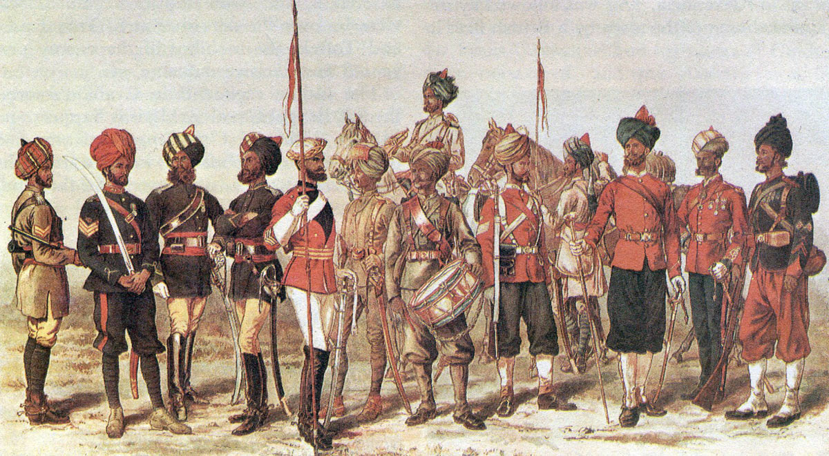 Bombay Army regiments: Battle of Maiwand on 26th July 1880 in the Second Afghan War