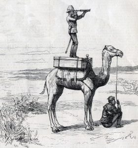 Colonel Buller observing the Mahdists before the Battle of El Teb on 29th February 1884 in the Sudanese War