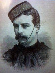 Captain Darley, 4th Dragoon Guards, Heavy Regiment of the Camel Corps, killed at the Battle of Abu Klea fought on 17th January 1885 in the Sudanese War