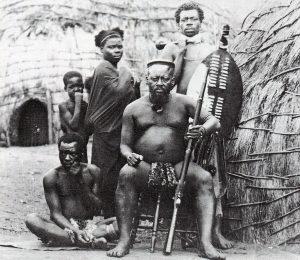 Chiefs Ntshingwayo kaMahole (seated) Zulu commander at the Battle of Isandlwana on 22nd January 1879 in the Zulu War