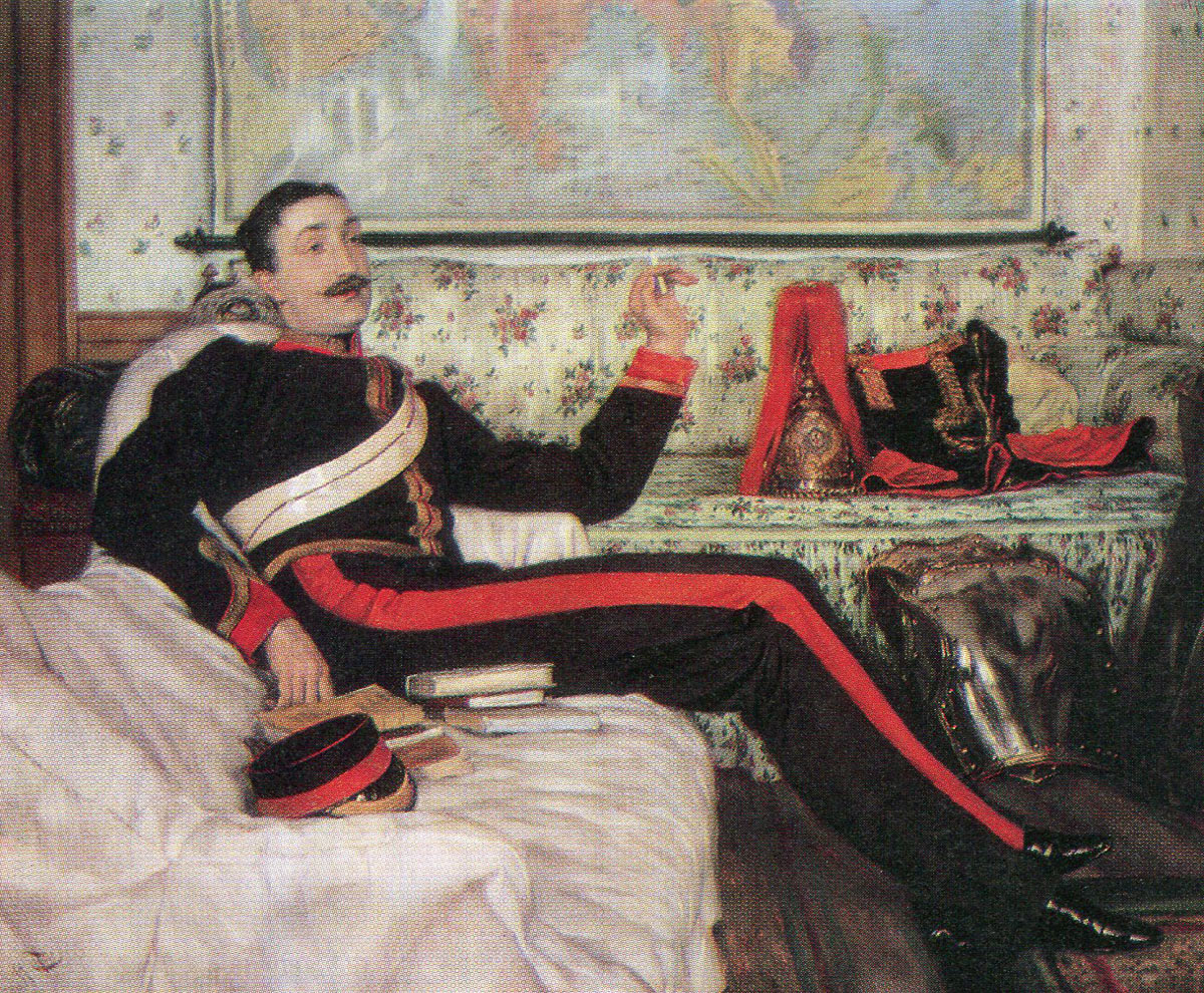 Colonel Frederick Burnaby, Royal Horse Guards, killed at the Battle of Abu Klea fought on 17th January 1885 in the Sudanese War: picture by J.G. Tissot