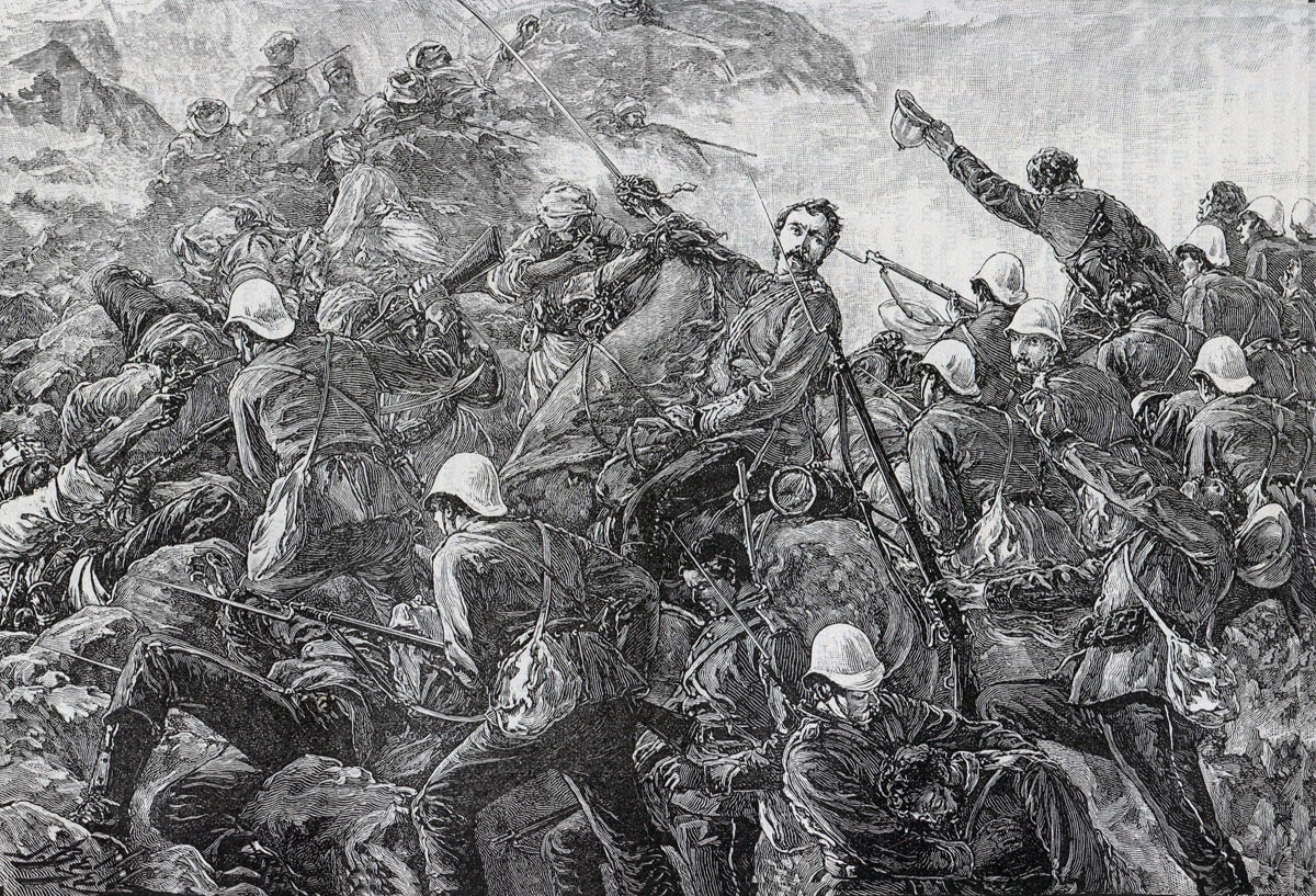 Colonel Galbraith and the 66th Regiment at the Battle of Maiwand on 26th July 1880 in the Second Afghan War