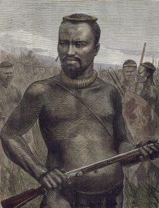 Prince Dabulamanzi kaMapande, Zulu commander at the Battle of Rorke's Drift on 22nd January 1879 in the Zulu War