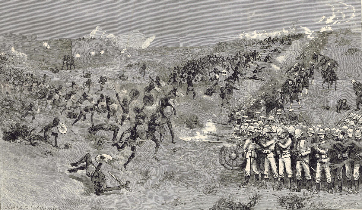 The British Square at the Battle of El Teb on 29th February 1884 in the Sudanese War