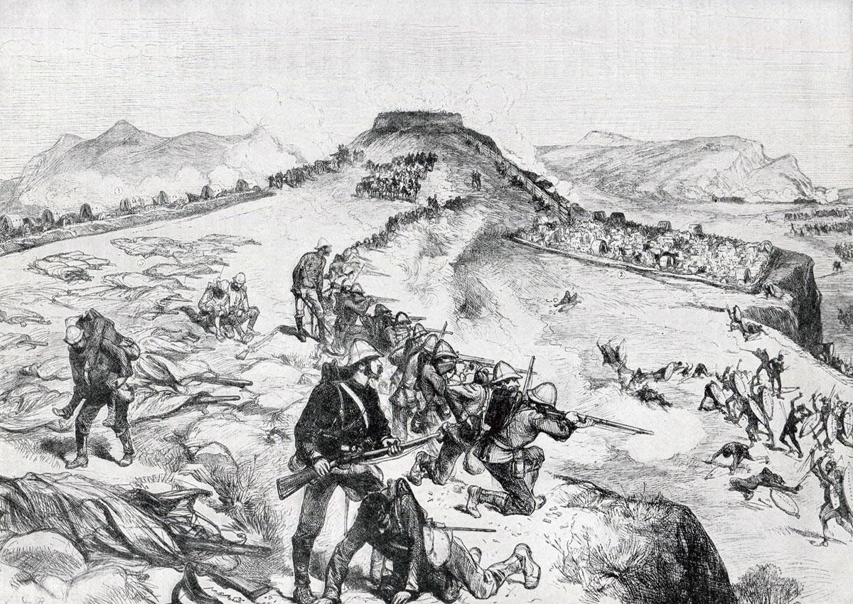 The Battle of Khambula on 29th March 1879 in the Zulu War