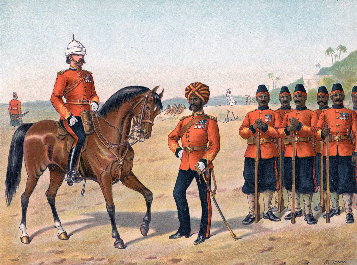 Madras Sappers and Miners: Battle of Kandahar on 1st September 1880 in the Second Afghan War: picture by Richard Simkin