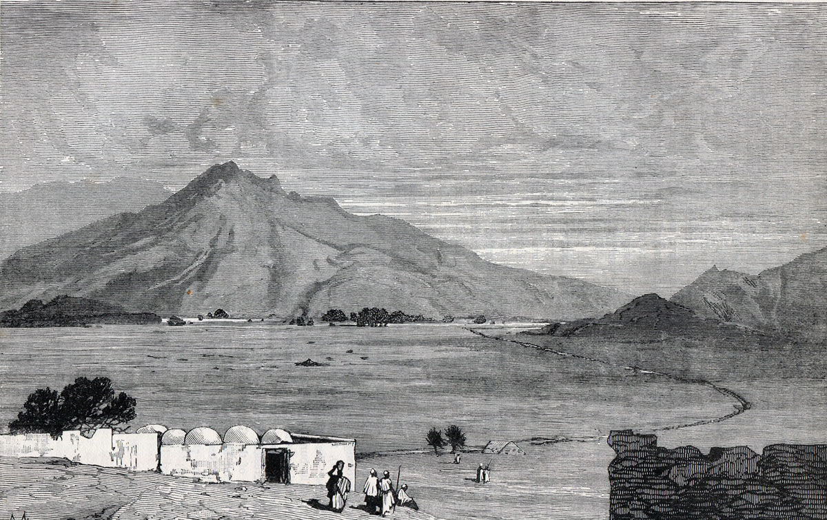 The battlefield of the Battle of Maiwand on 26th July 1880 in the Second Afghan War