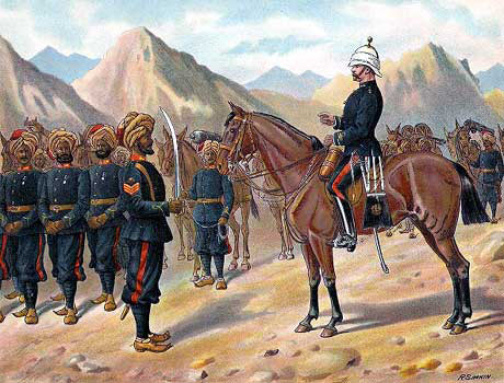 Punjab Mountain Battery: Battle of Ali Masjid on 21st November 1878 in the Second Afghan War: picture by Richard Simkin