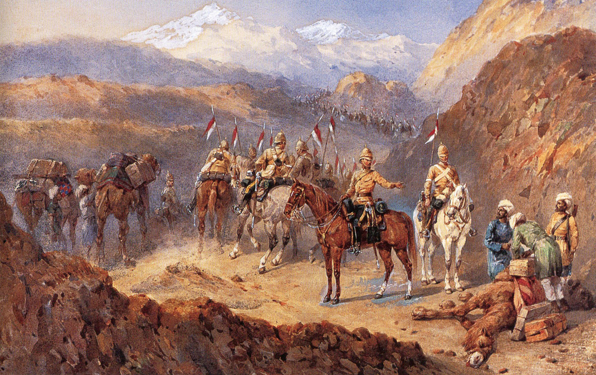Robert's army on the march from Kabul to Kandahar: Battle of Kandahar on 1st September 1880 in the Second Afghan War: picture by Orlando Norie