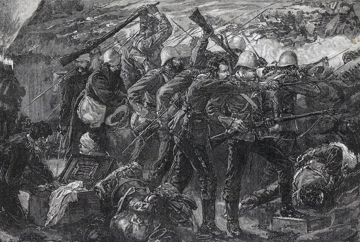 Battle of Rorke's Drift on 22nd January 1879 in the Zulu War