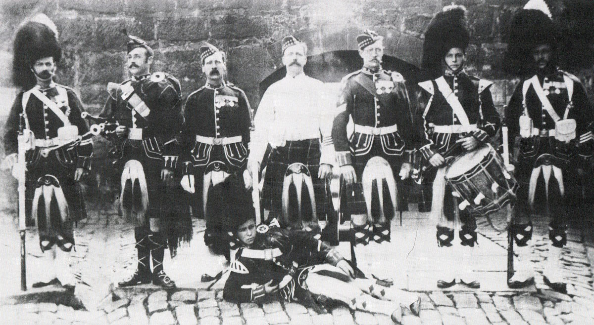 1st Seaforth Highlanders before leaving for Egypt: Battle of Atbara on 8th April 1898 in the Sudanese War