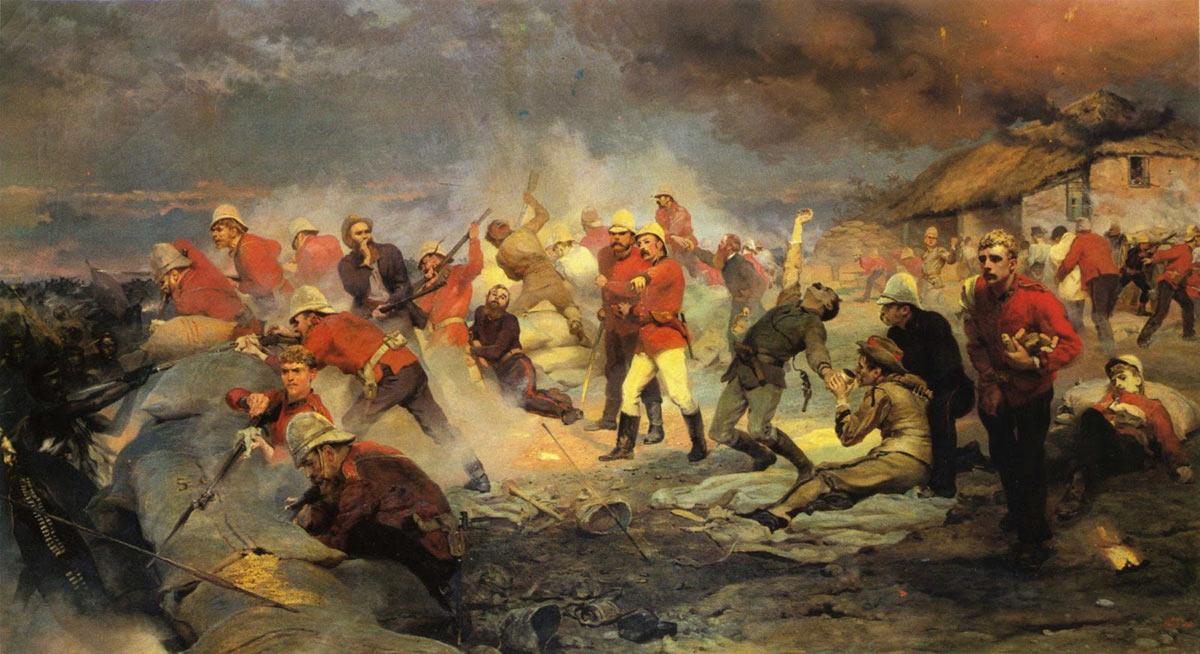 The Defence of Rorke's Drift on 22nd January 1879 in the Zulu War: picture by Lady Butler