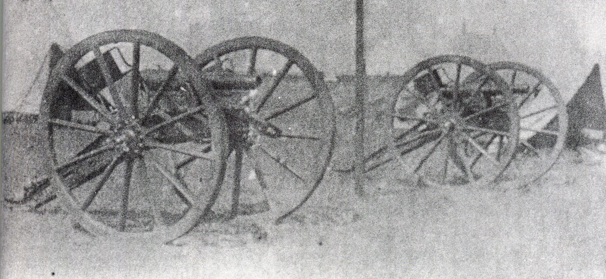 Two 7 pounder RML guns captured by the Zulus at the Battle of Isandlwana on 22nd January 1879 in the Zulu War