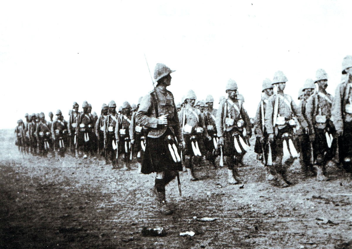 Captain McLean's company of Queen's Own Cameron Highlanders: Battle of Atbara on 8th April 1898 in the Sudanese War