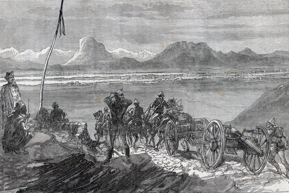 First view of Kandahar for the invading British and Indian Army: Battle of Kandahar on 1st September 1880 in the Second Afghan War