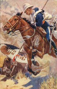 The Charge of the 17th Lancers at the Battle of Ulundi on 4th July 1879 in the Zulu War