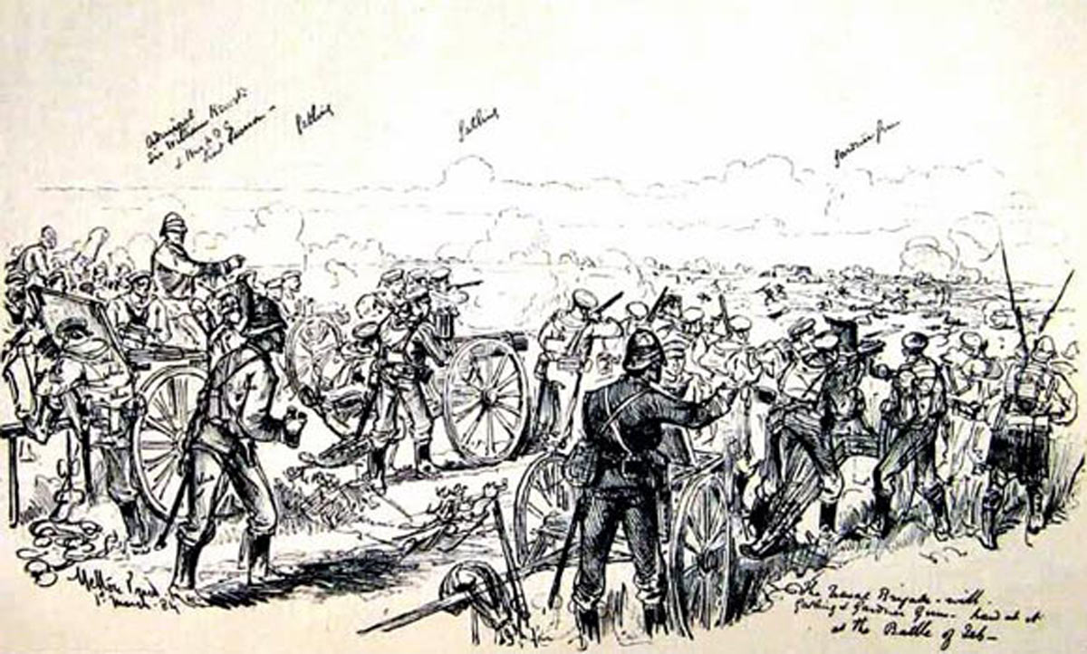 Royal Navy at the Battle of El Teb on 29th February 1884 in the Sudanese War