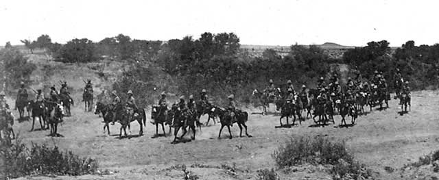 16th Lancers at the Battle of Paardeburg on 27th February 1900 in the Great Boer War