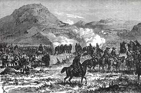 Battle of Laing's Nek on 28th January 1881 in the First Boer War