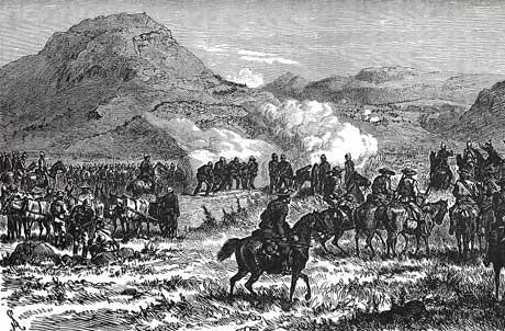 Battle of Laing's Nek on 28th January 1881 in the First Boer War