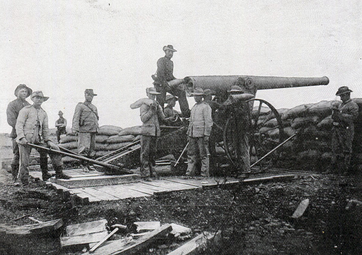 Boer 'Long Tom' gun: Battles of Val Krantz and Pieters 5th to 28th February 1900 in the Great Boer War