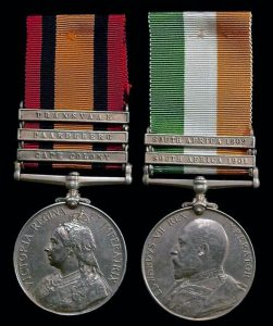 Queen's South Africa Medal with clasp for 'Paardeburg' and King's South Africa Medal: Battle of Paardeburg on 27th February 1900 in the Great Boer War