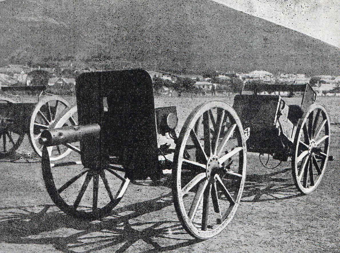 Boer guns captured at the Battle of Paardeburg on 27th February 1900 in the Great Boer War