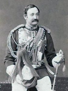 Colonel Frederick Burnaby as colonel of the Royal Horse Guards, killed at the Battle of Abu Klea fought on 17th January 1885 in the Sudanese War