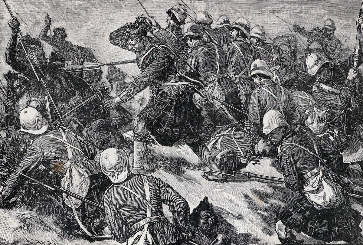 Gordon Highlanders at the Battle of El Teb on 29th February 1884 in the Sudanese War