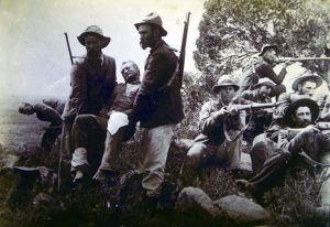 Boers at 1the Battle of Paardeburg on 27th February 1900 in the Great Boer War