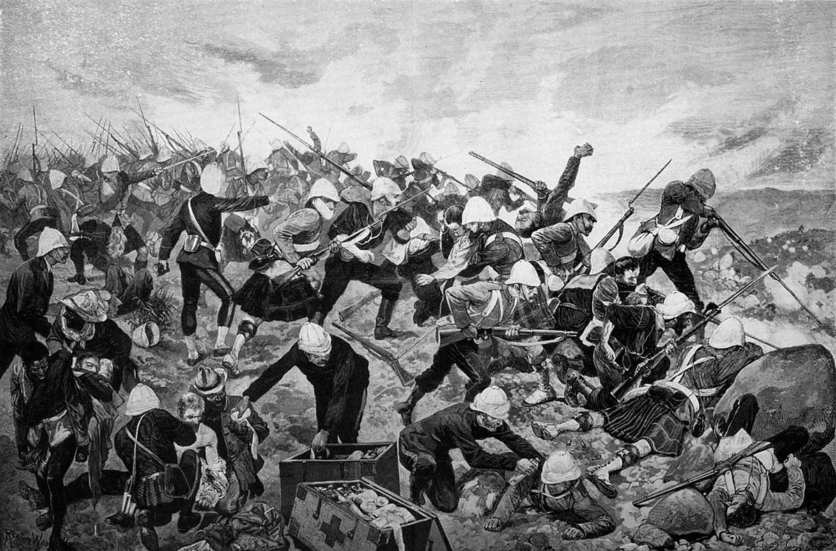 Battle of Majuba Hill on 27th February 1881 in the First Boer War: the full picture by Richard Caton Woodville: buy this picture