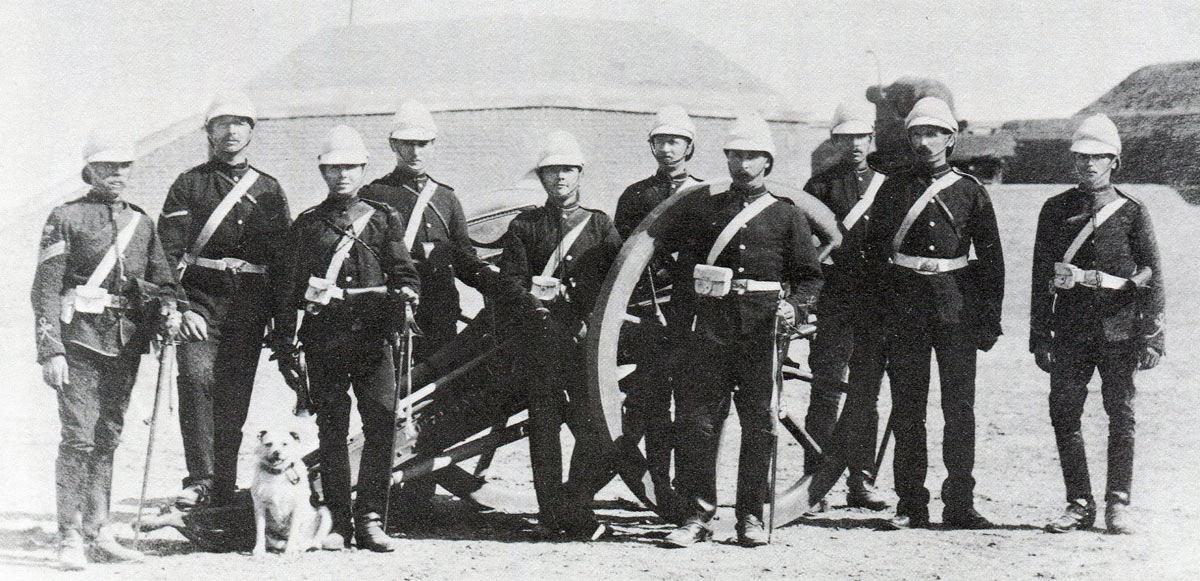 N/2 'Broken Wheel' Battery Royal Artillery: Battle of Tel-el-Kebir on 13th September 1882 in the Egyptian War
