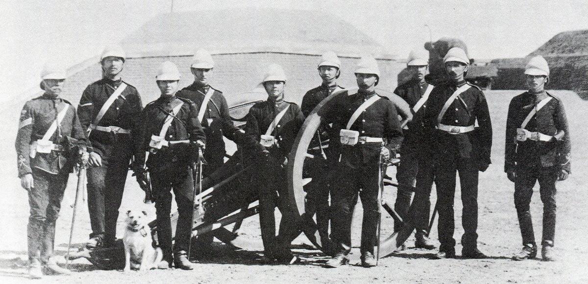 N/2 'Broken Wheel' Battery Royal Artillery: Battle of Tel-el-Kebir on 13th September 1882 in the Egyptian War