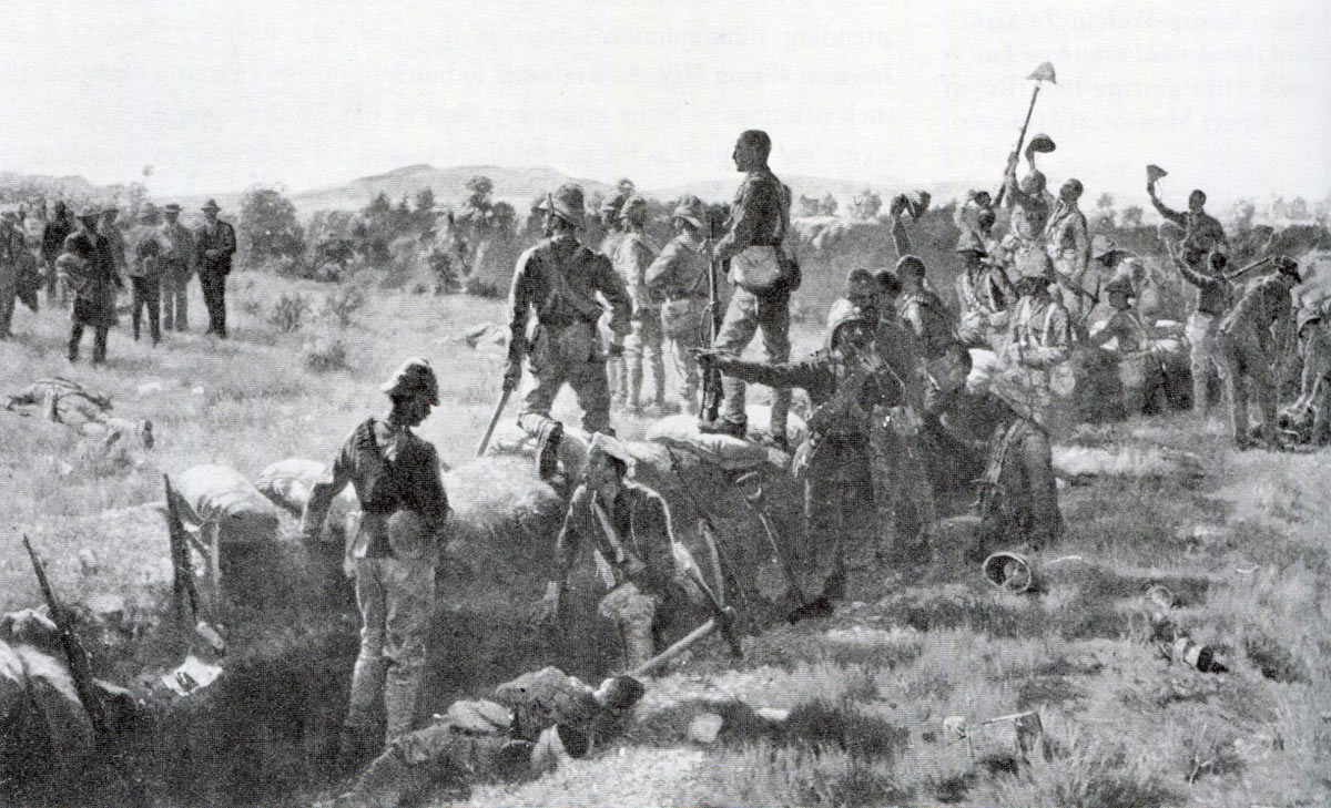 The Victors of the Battle of Paardeberg on 27th February 1900 in the Great Boer War: picture by James Princip Beadle