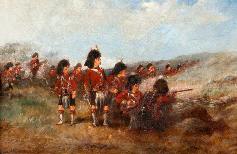 Seaforth Highlanders on exercise in Britain: Battle of Omdurman on 2nd September 1898 in the Sudanese War